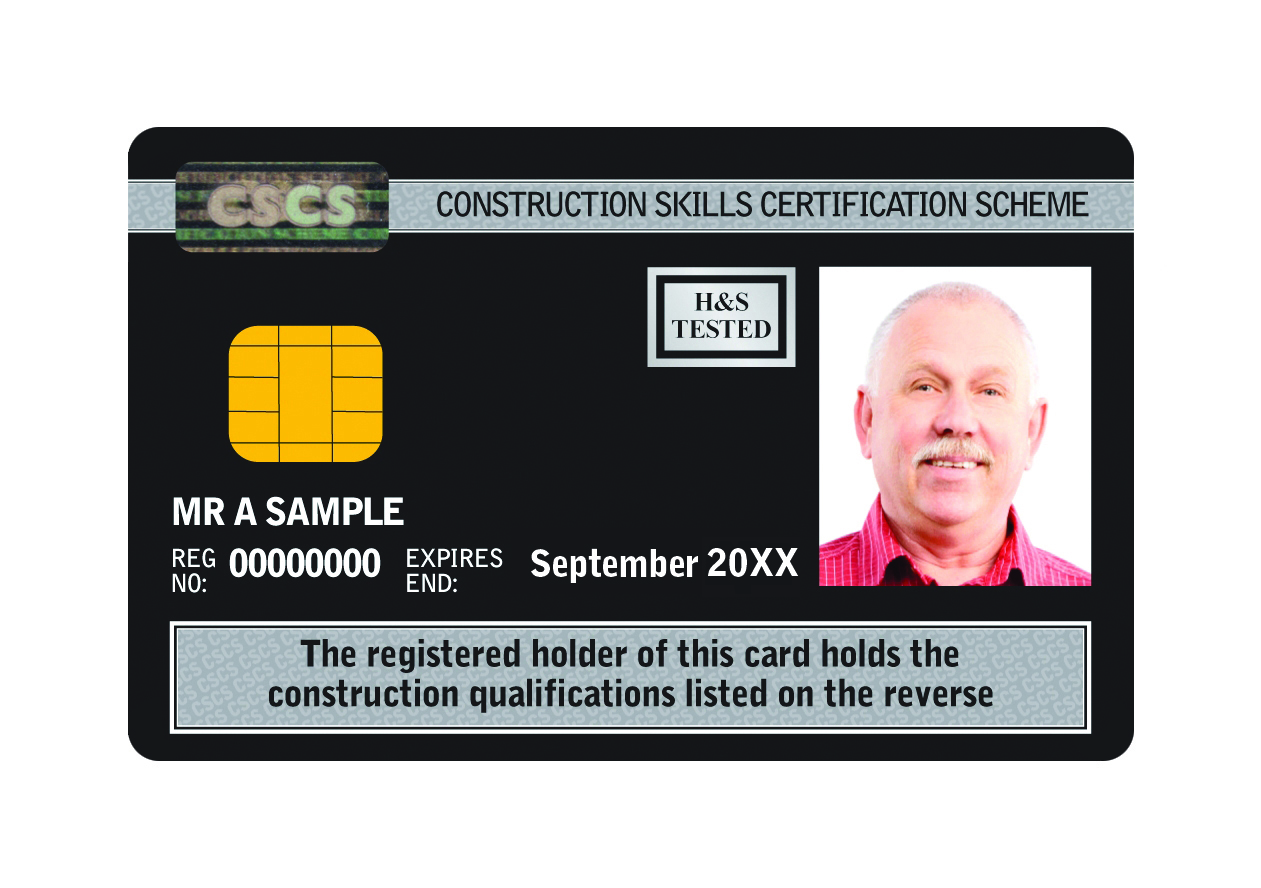 Image shows CSCS Black Card.