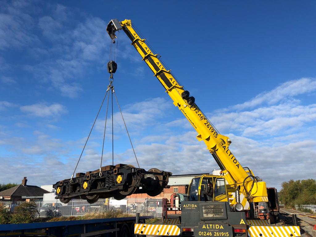 Image shows appointed person using lifting crane