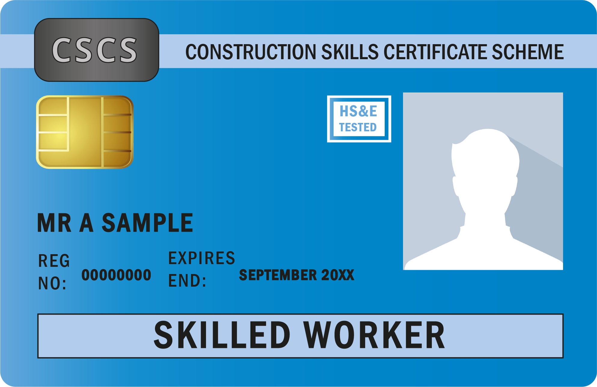 Image shows Blue CSCS Skilled Worker Card