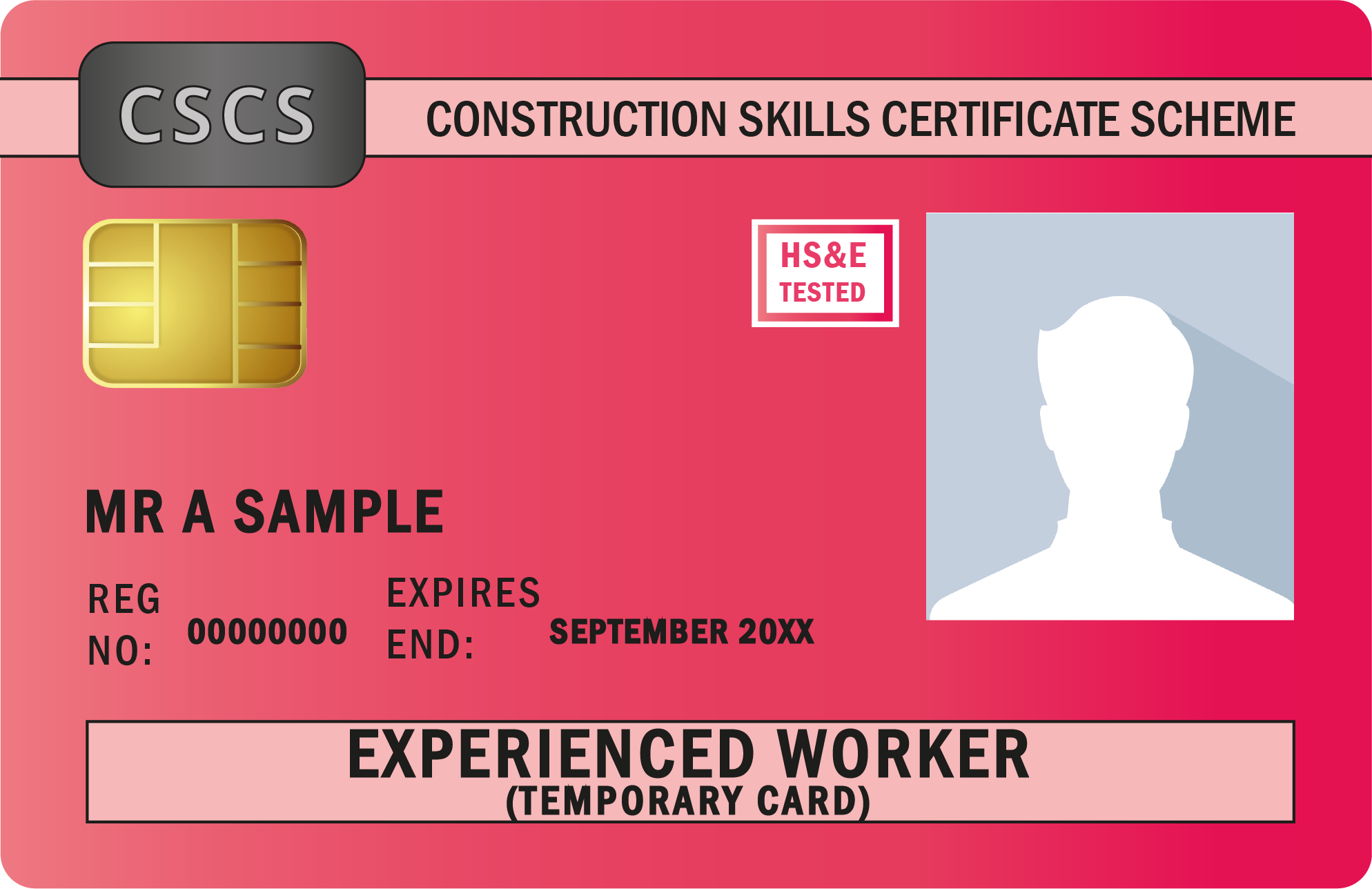 Image shows Experienced Worker Red Card