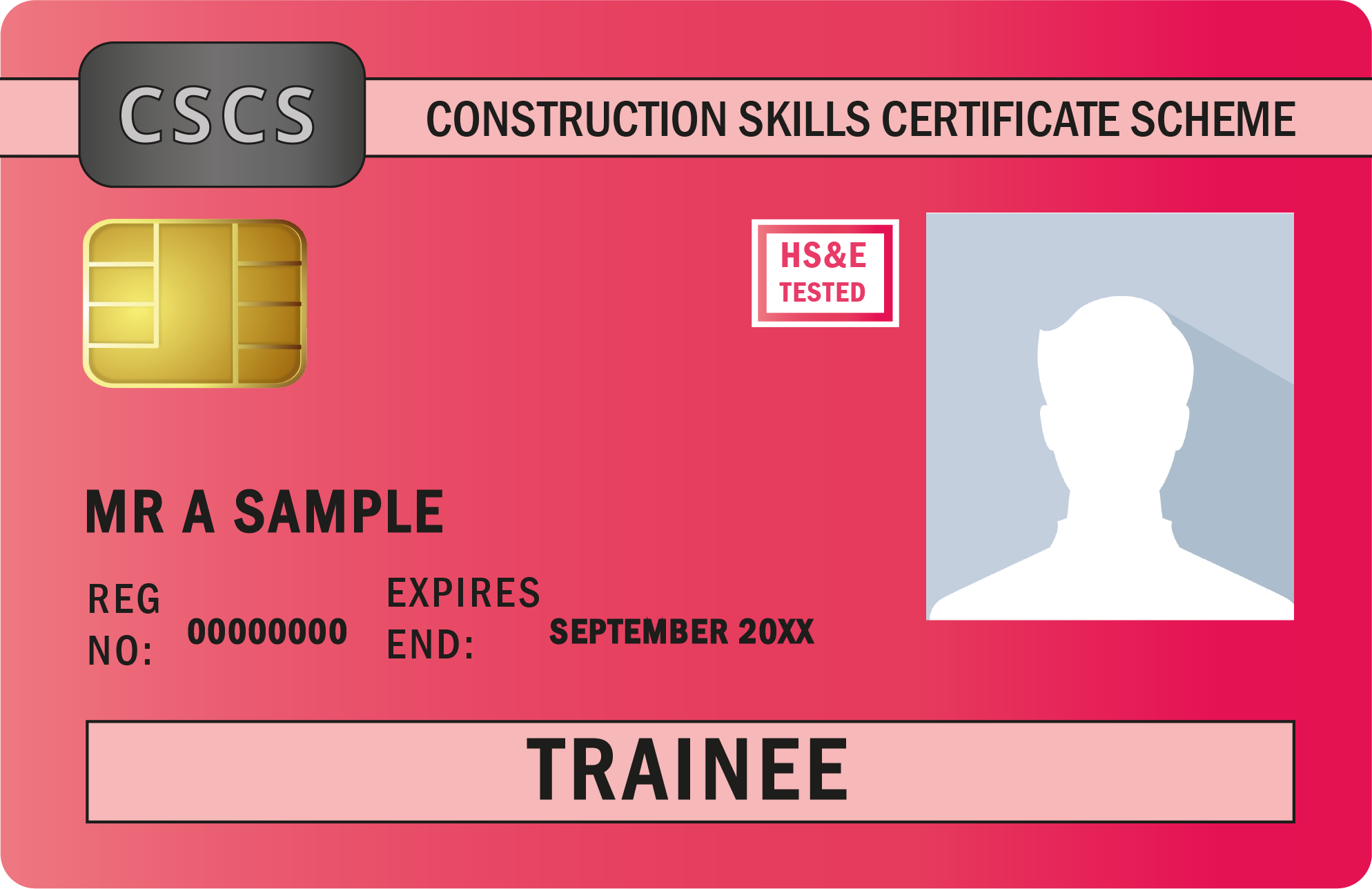 Image shows Trainee Red Card