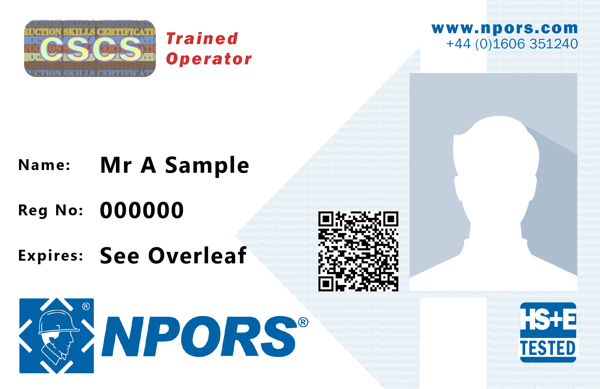 NPORS trainer operator