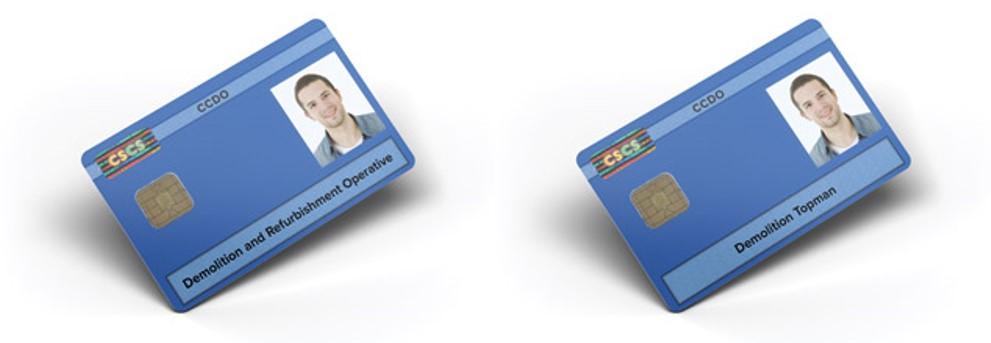 blue demolition card