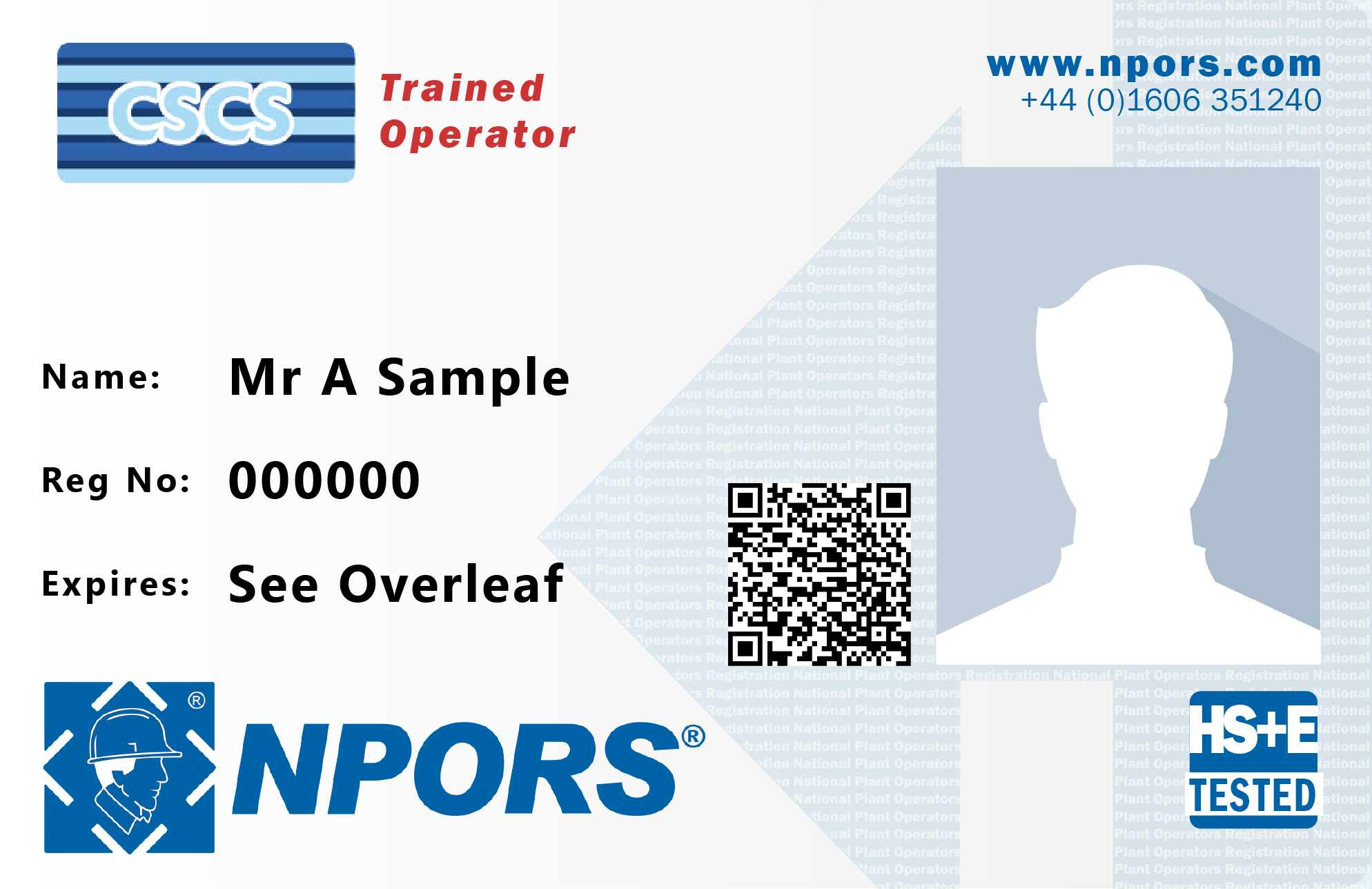 NPORS trained operator