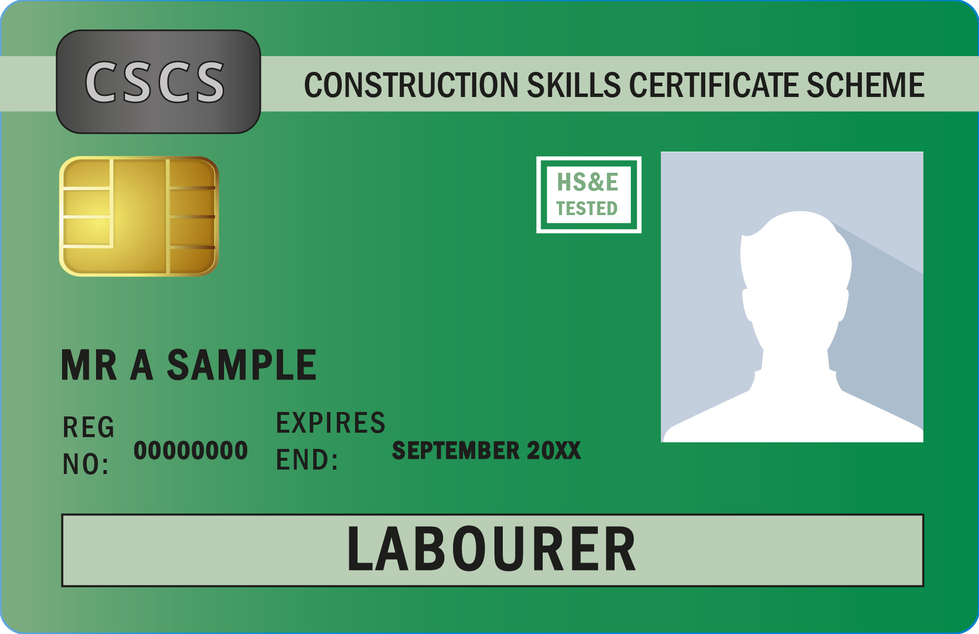 image shows the CSCS green labourer card