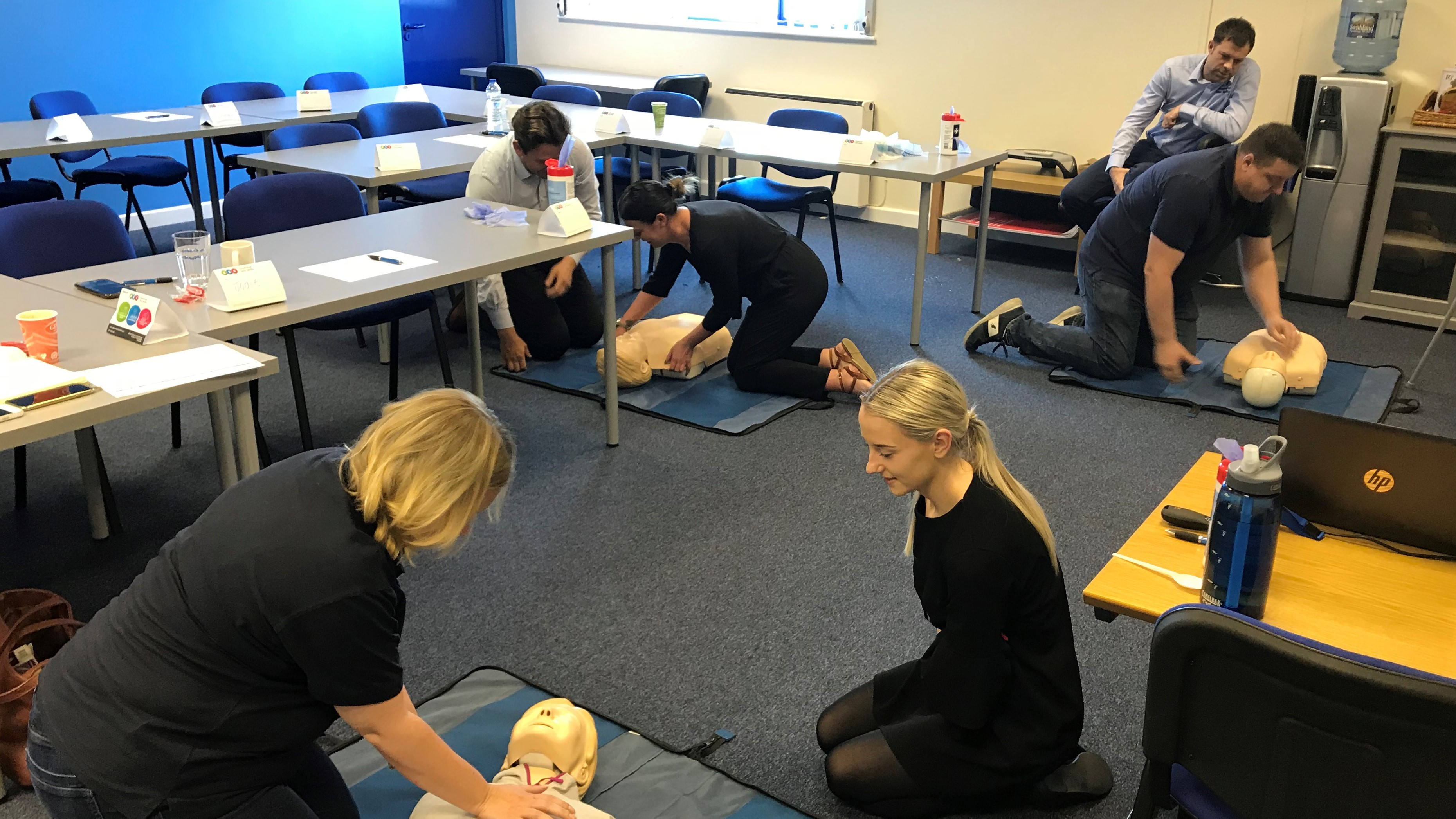 image shows First Aid Training