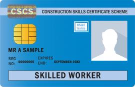 Blue Skilled Worker Card