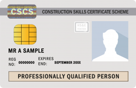 Professionally Qualified Person Card