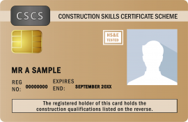 CSCS Gold Craft Card