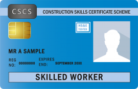 Blue Construction Card