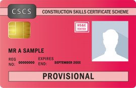 Provisional Red CSCS Card