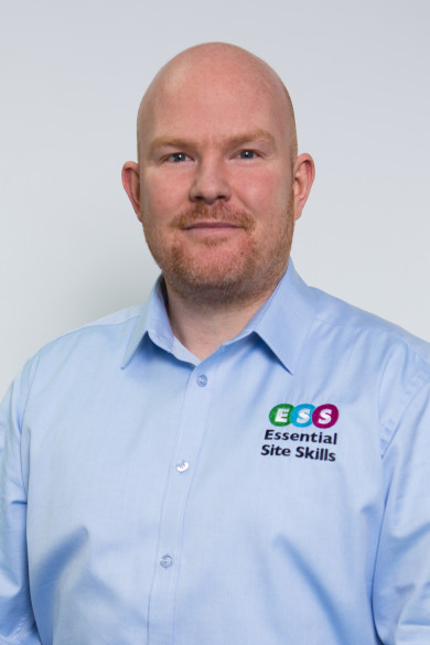 Photograph shows George Wilks, Business Development Manager for Essential Site Skills, a Leading Health and Safety and Construction Training Course Provider