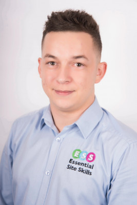 Photograph shows Luke Brailsford, Project Manager for Essential Site Skills, a Leading Health and Safety and Construction Training Course Provider