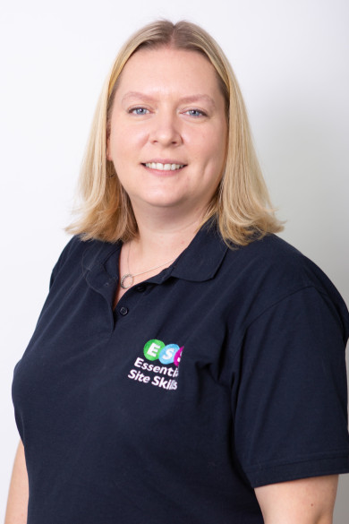 Photograph shows Ami Dawe, Adult Skills Tutor at Leading Health and Safety Course Provider Essential Site Skills