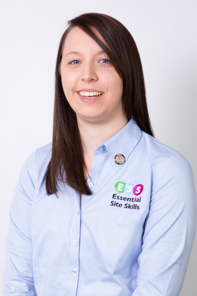 Photograph shows Amy Milford, Adult Skills Tutor at Award Winning Health and Safety Course Provider Essential Site Skills